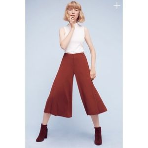 ✨The Essential Culotte Anthropologie Burgundy Pant